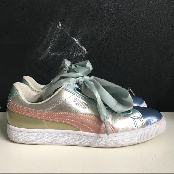Puma Shoes   Basket Heart Bauble Fm